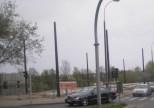 Budowa linii tramwajowej przy ulicy Tuwima (28 kwietnia 2015) - przystanek końcowy przy skrzyżowaniu z aleją Warszawską i ulicą Prawocheńskiego