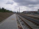 Budowa linii tramwajowej przy ulicy Witosa (10 maja 2015)