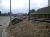 Budowa linii tramwajowej przy ulicy Obiegowej (10 maja 2015)