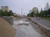 Budowa linii tramwajowej na ulicy Dworcowej (13 maja 2015)