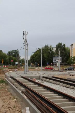 Budowa linii tramwajowej na placu Ofiar Katynia (18 czerwca 2015)