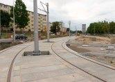 Budowa linii tramwajowej na placu Ofiar Katynia (12 lipca 2015)