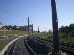 Budowa linii tramwajowej przy ulicy Płoskiego (15 sierpnia 2015)