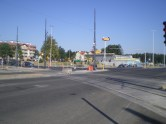 Budowa linii tramwajowej na skrzyżowaniu ulic Płoskiego, Witosa i Bukowskiego (15 sierpnia 2015)