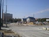 Budowa linii tramwajowej na placu Konstytucji 3 Maja (4 października 2015) - przystanek końcowy Dworzec Główny