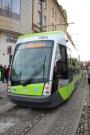 Solaris Tramino Olsztyn S111O #3004 na placu Jana Pawła II (19 grudnia 2015)