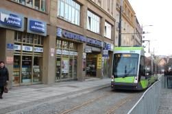 Solaris Tramino Olsztyn S111O #3004 na ulicy 11 Listopada (19 grudnia 2015)