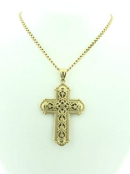 "14 KARAT  GOLD/8.2G/20"" NECKLACE WITH CROSS PENDANT"