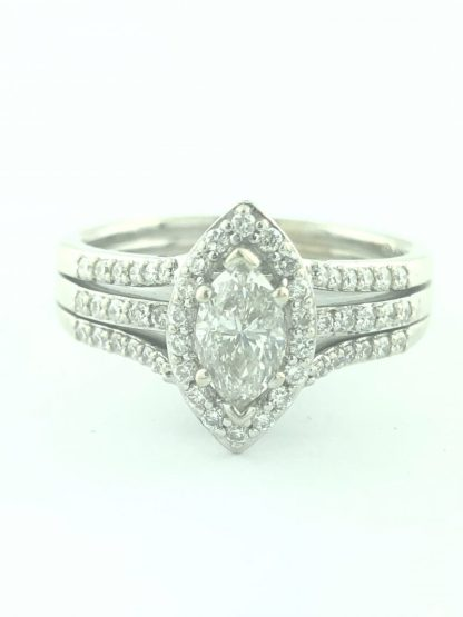 DIAMOND BRIDAL SET/14K/7.7G/0.60CT(C)/2.00CT TDW/9.50""
