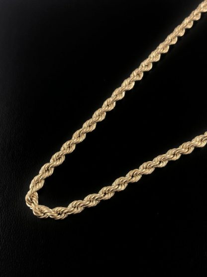 10k YELLOW GOLD ROPE NECKLACE/13.2G/SIZE 24""