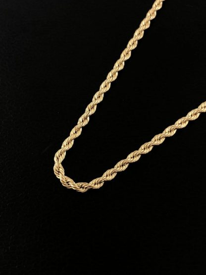 """14K YELLOW GOLD ROPE NECKLACE/2.1G/20"""""""