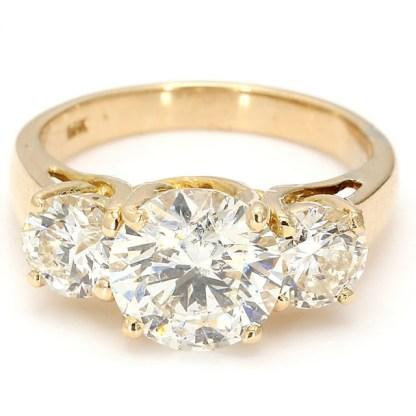 "14K DIAMOND ENGAGEMENT RING  2.05CT(C)  3.00CT TDW  SIZE 5"""