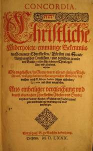 Book The Book of Concord, German Edition