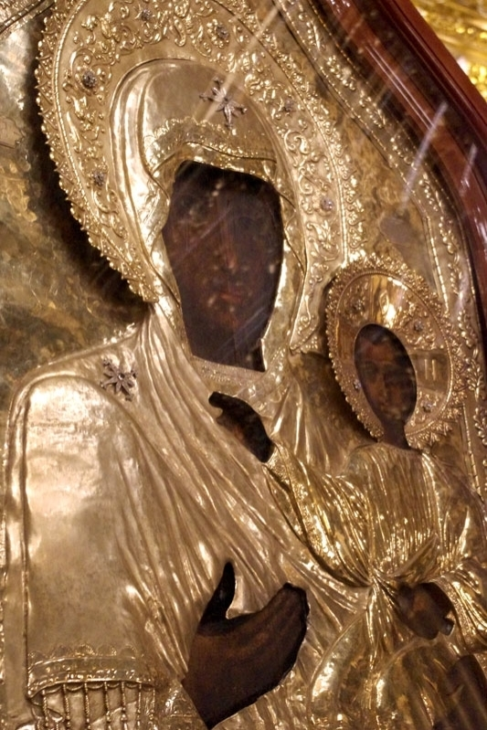 "Detail of the Smolensk ""Hodigitria"" Icon of the Theotokos"