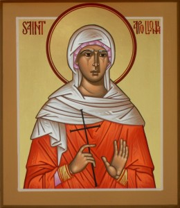 St. Apollonia, an elderly virgin, deaconess, and martyr of Alexandria