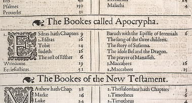 The Books called Apocrypha