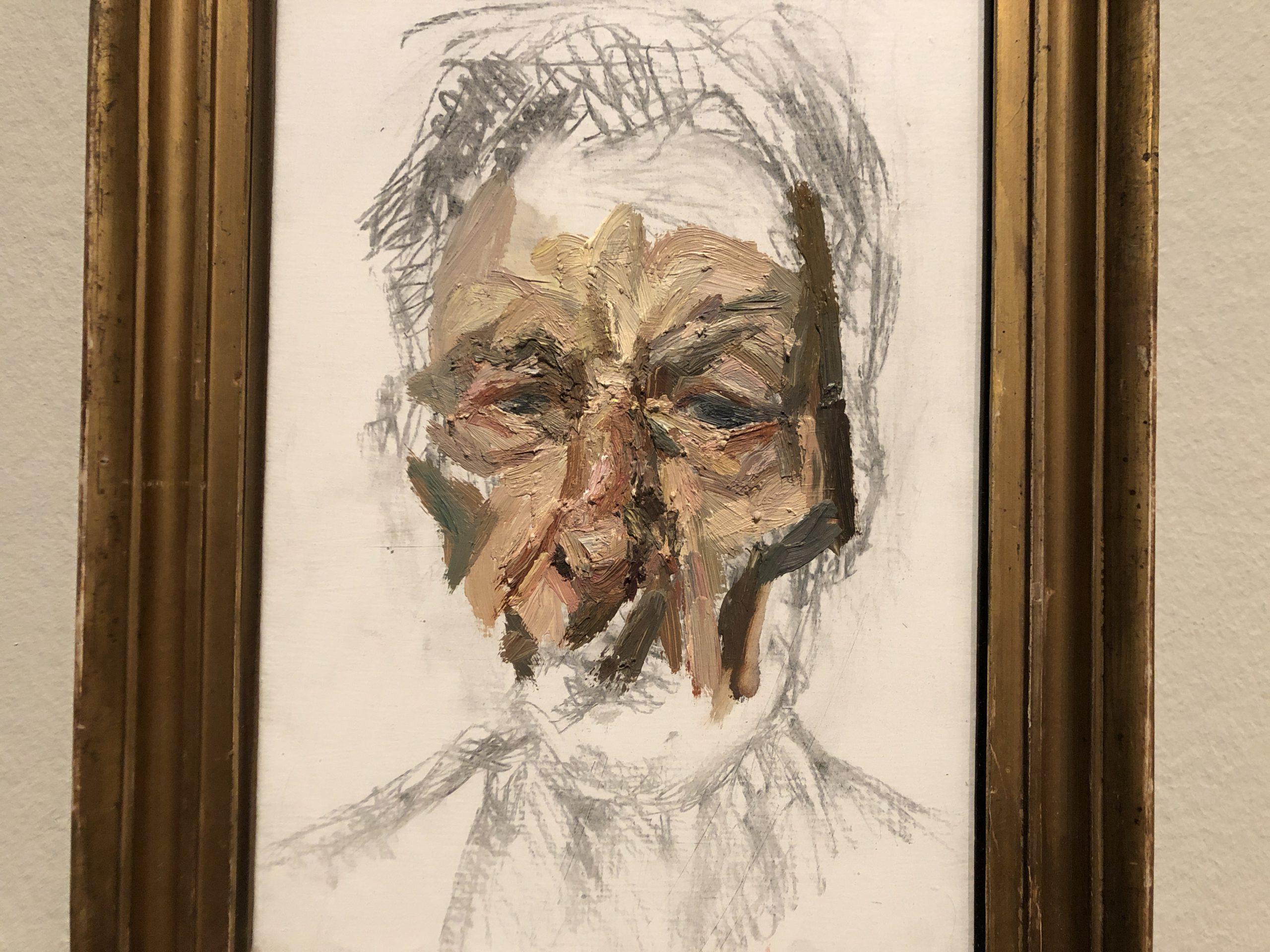 Image of artwork titled Self-portrait by artist Lucian Freud