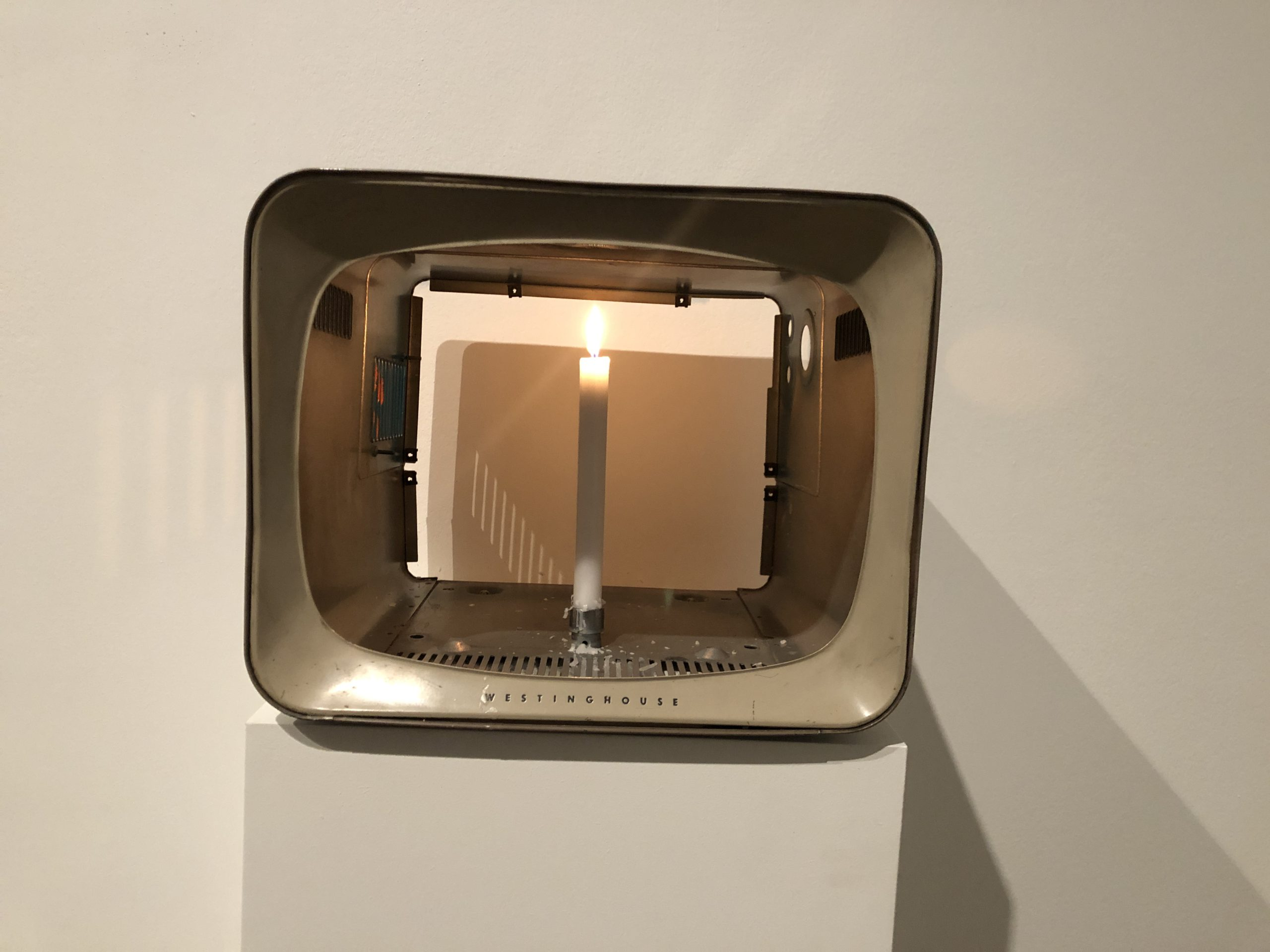 Image of artwork titled One Candle by artist Nam June Paik