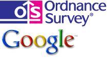 Ordnance Survey and Google logos