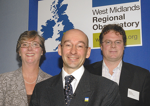 Rosie Paskins, Richard Hyde and Richard Woolhouse at the West Midlands Regional Observatory's Annual Conference 2009