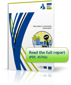 Cover of report 'What Makes a Community Sustainable'