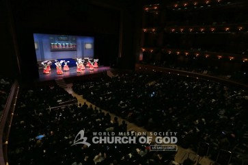 jubilee, 50th anniversary, World Mission Society Church of God, WMSCOG, Church of God, Mother's love, global harmony, key to harmony, orchestra, strings, amazing grace, dancing, NJPAC, traditional Korean dance, hwagwanmu