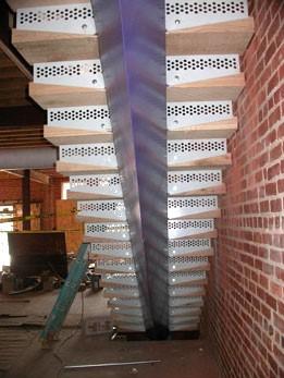 Custom fabricated ornamental stair