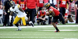 Will Likely helped secure the Terps victory with an interception for a touchdown. (Courtesy of UMTerps.com)