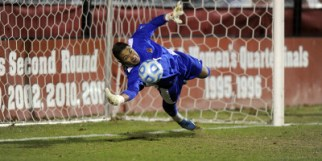 Zack Steffen made two crucial saves for the Terps in PKs. (Courtesy of UMTerps.com)
