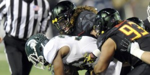 The Terps were unable to stop the Spartans and fell 37-15. (Courtesy of UMTerps.com)