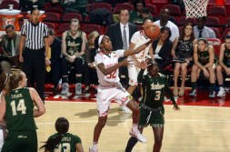 Shatori Walker-Kimbrough had a career-high 25 points to help lead the Terps to victory. (Courtesy of UMTerps.com)