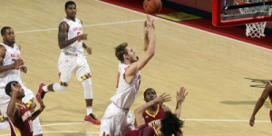 Jake Layman added 21 points for the Terps in their victory over Winthrop. (Courtesy of UMTerps.com)