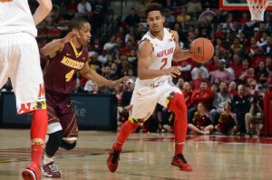 Melo Trimble added 20 points for the Terps in their victory over Minnesota. (Courtesy of UMTerps.com)