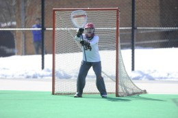 Goalie Alex Fitzpatrick was named Big Ten Defensive Player of the Week prior to the game against UMBC. (Courtesy of UMTerps.com)