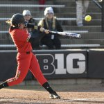 Terps softball sweeps midweek doubleheader with Rutgers