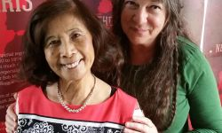 Kim Gottlieb-Walker (right) with Pat Chin (left), co-founder of VP Records.