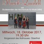Oberthal: Streich-Quartett der Hochschule für Musik Saar zu Gast