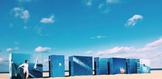 The Deauville Photography Festival: exhibit on the beach
