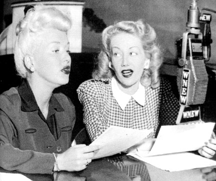 betty grable, paula stone on WNEW