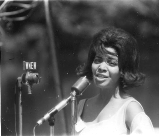 Joya Sherill at Jackie Robinson's house 1964