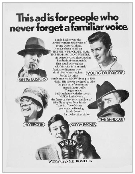 sandy becker voices ad copy