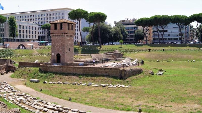 Die Überreste vom Circus Maximus