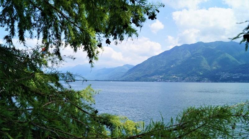 Der Lago Maggiore in Locarno, Schweiz