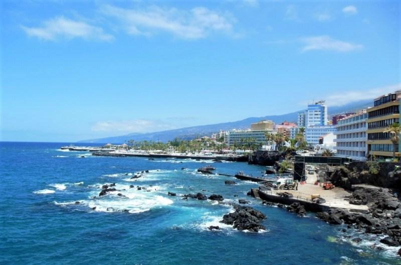 Die Hafenstadt Puerto de la Cruz auf Teneriffa