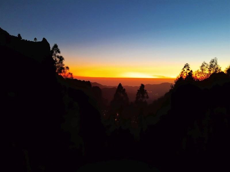 Sonnenuntergang am Roque Nublo - ein fantastisches Schauspiel