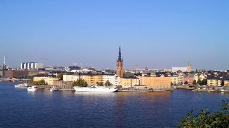 Blick von Montäliusvägen auf Stockholm