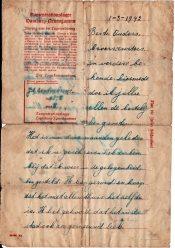 De eerste brief uit Neuengamme