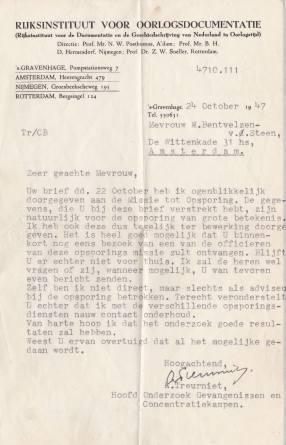Rijksinstituut voor oorlogsdocumentatie 1945