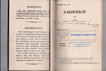 Zakboekje 1940