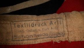 Textildruck Arlt Schönheide Kriegsfahne